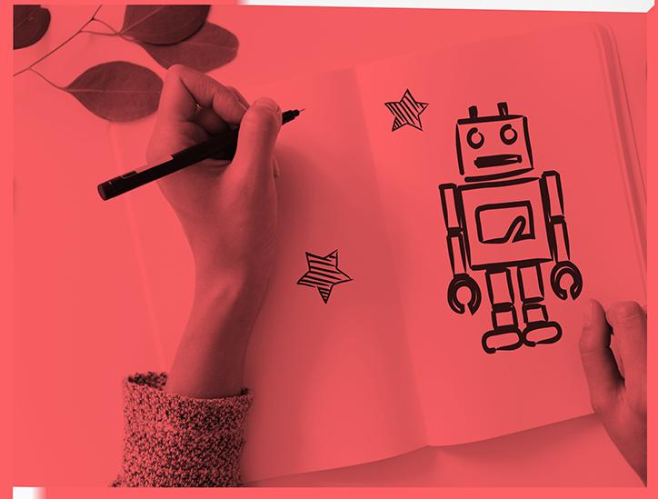 Zeichnung von Roboter